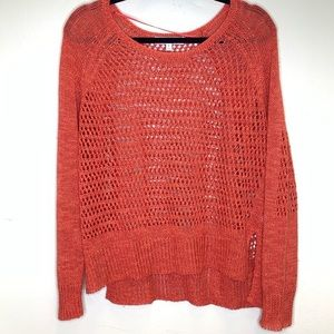 Elizabeth & James open knit pullover sweater SZ L